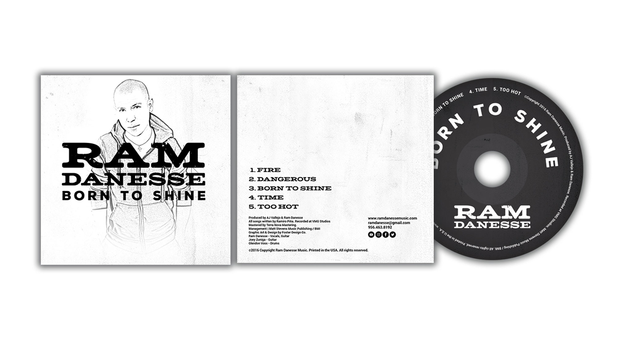 Born to Shine CD Design