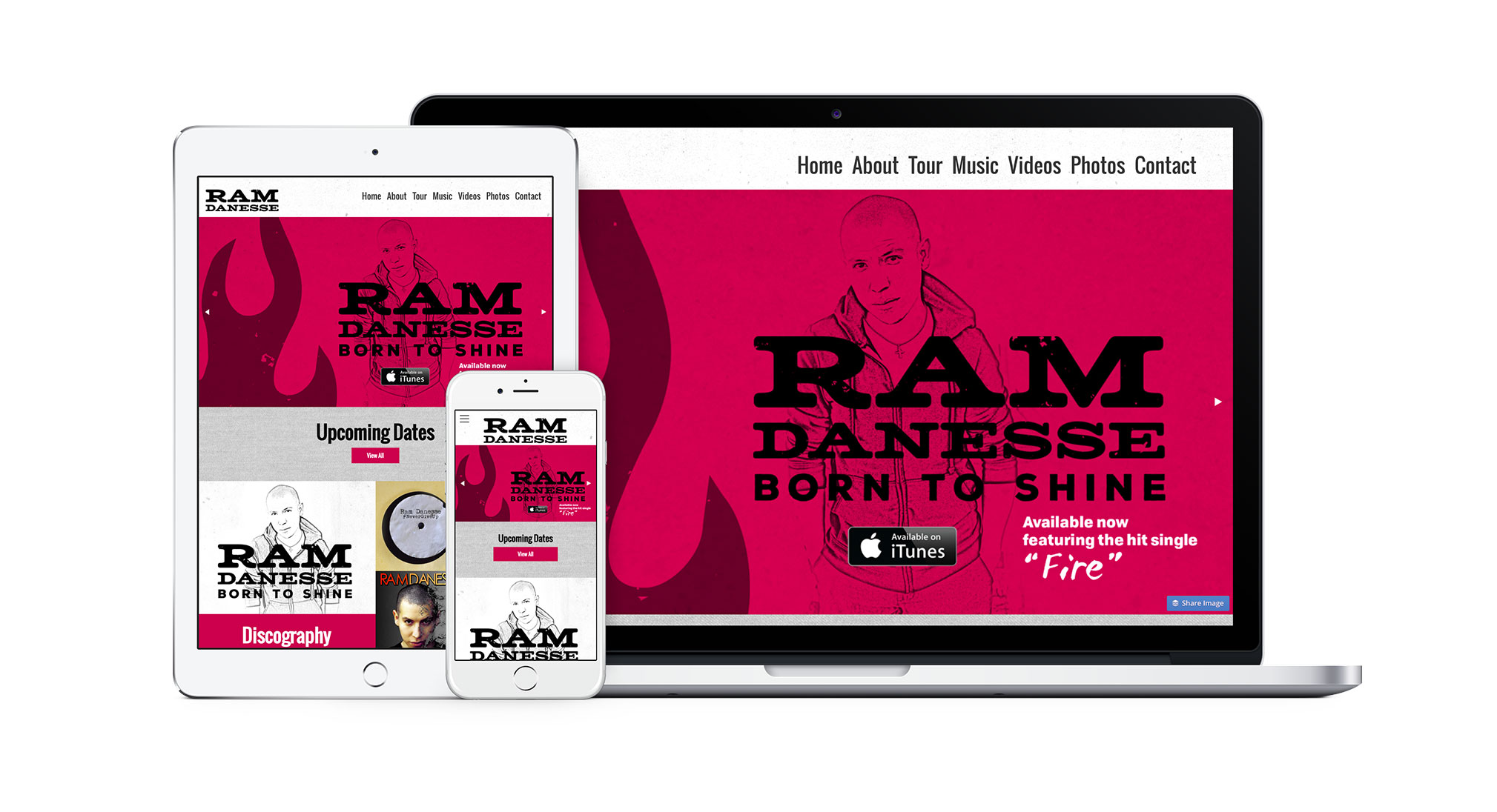 Ram Danesse Music Website