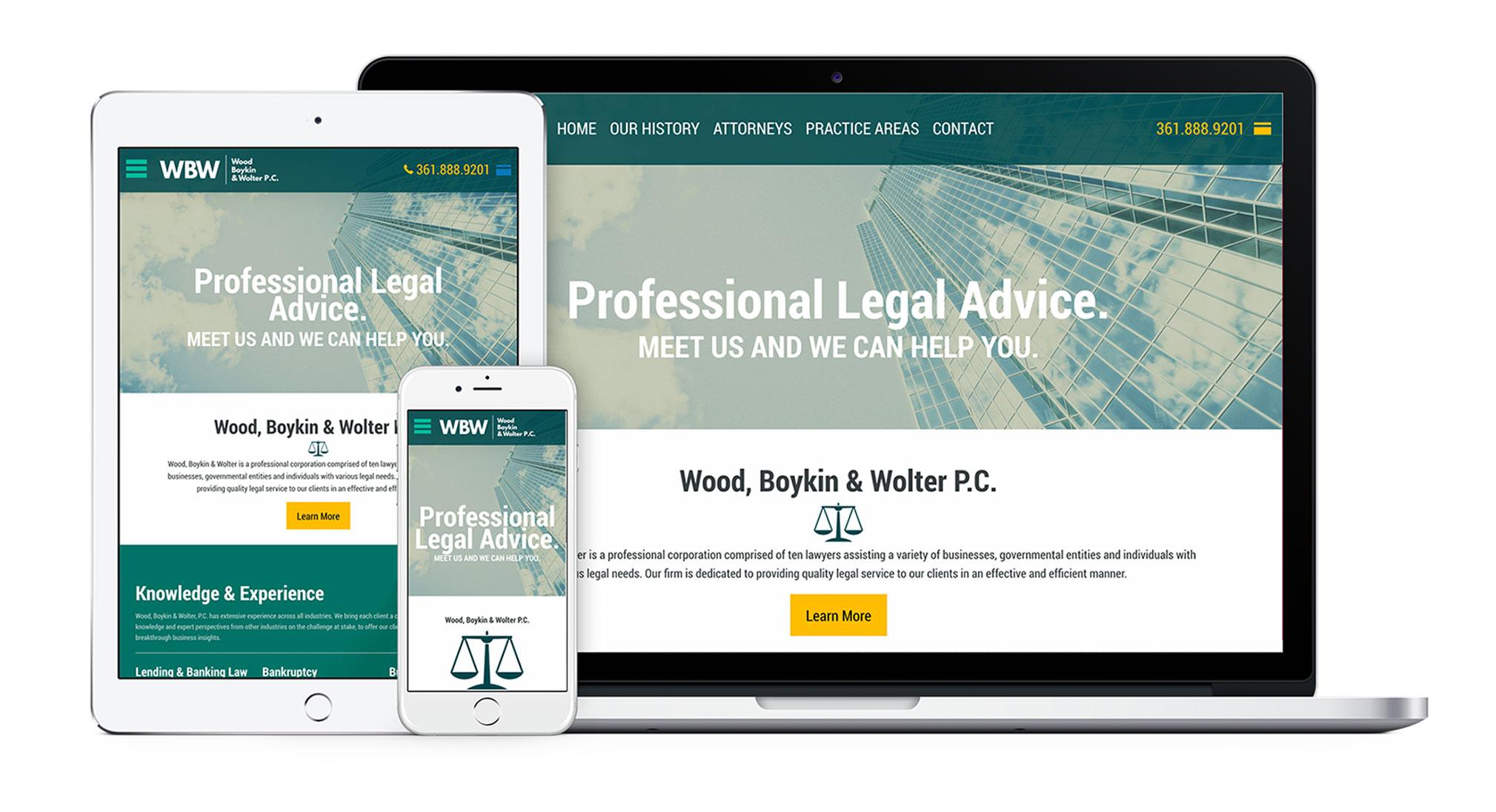 New Wood, Boykin, Wolter, PC Website